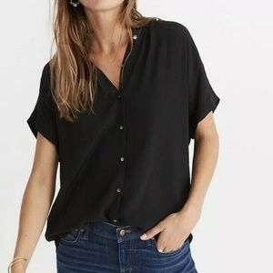 Madewell | Central Drapey Shirt Button Front Crepe